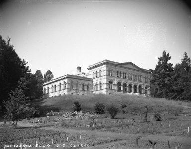 """Mechanics Bldg., U.C., ca.1900,"" University of California at Berkeley. [negative]"