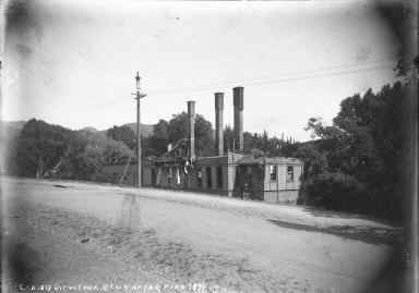 """C.U. Agriculture Bldg. after fire, 1899."""