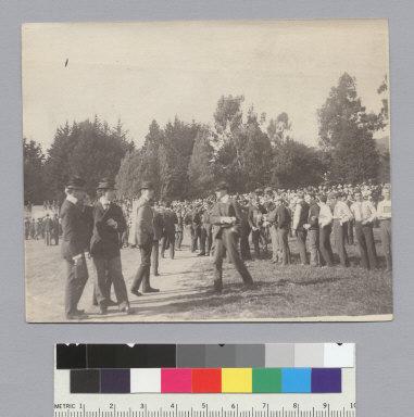 """C.U. brawl, May 1900,"" University of California at Berkeley. [photographic print]"