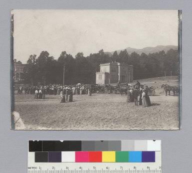 """Student gathering, ca.1899,"" University of California at Berkeley. [photographic print]"