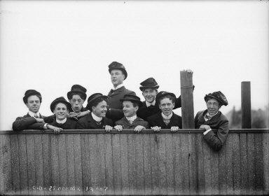 """C.U. students, 1900?"" University of California at Berkeley. [negative]"