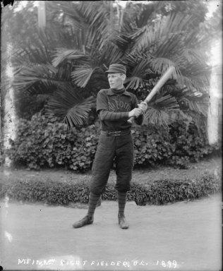 """U.C. 1899, baseball,"" Arthur McKeown, University of California at Berkeley. [negative]"