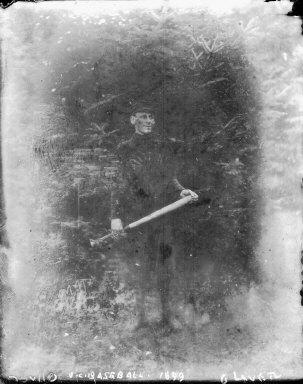 """U.C. baseball [player], 1899,"" University of California at Berkeley. [negative]"