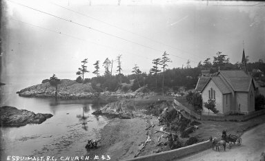 """""""Esquimault B.C., church,"""" British Columbia. [negative]"""