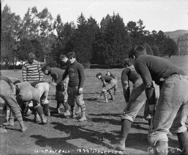 """U.C. football, 1899? Practise [negative]"