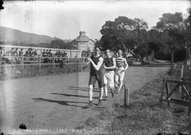 """C.U. track meet, 1900? walk,"" University of California at Berkeley. [negative]"