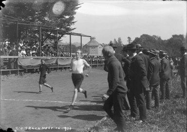 """C.U. track meet, ca. 1900,"" University of California at Berkeley. [negative]"