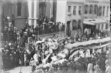 Chinese dragon in parade, San Francisco [transparency]