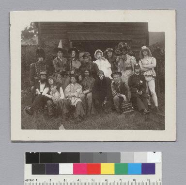 """Skull & Keys, U.C., 1899,"" initiation, University of California at Berkeley. [photographic print]"