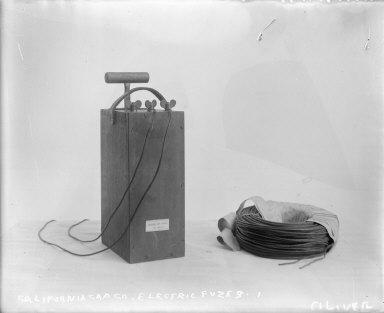 Electric fuzz and detonator, #1, California Cap Company. [negative]