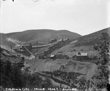 Mine works, Virginia City, Nevada. [negative]