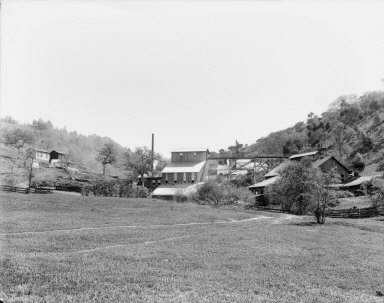 Mill and chlorination works, Josephine Mine, Fresno County, California. [transparency]