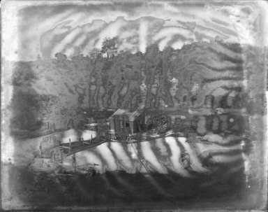 Tailings reservoir, Josephine Mine, Fresno County, California. [transparency]
