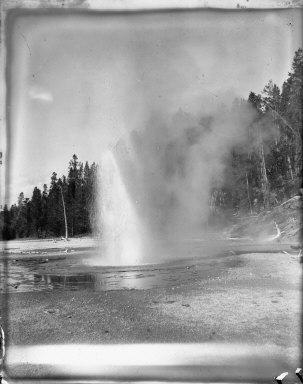 Geyser, Yellowstone National Park. [negative]