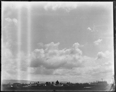 Clouds over Oakland. [negative]