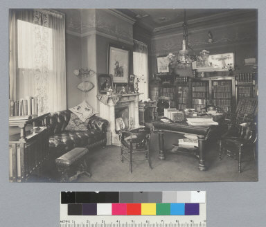 Library, William Letts Oliver house, 101 Vernon Street, Oakland. [photographic print]