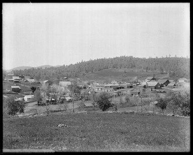 Bird's-eye view of Counterville, California. [negative]