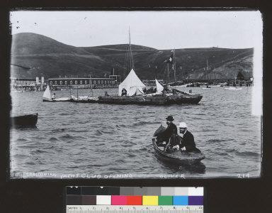 Corinthian Yacht Club opening, Corte Madera Creek. [photographic print]