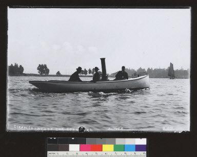 Steam launch of Joe Stanford, Lake Merritt. [photographic print]