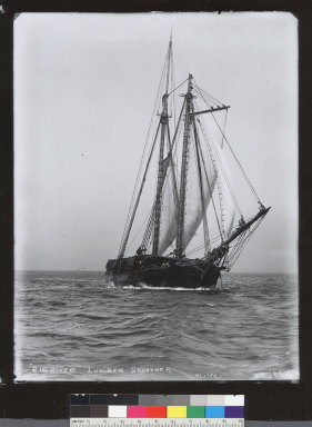 Big River (schooner) transporting lumber. [photographic print]