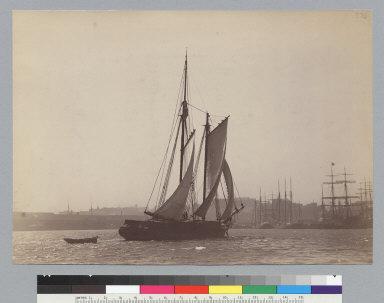 Big River (schooner) transporting lumber, off San Francisco waterfront. [photographic print]