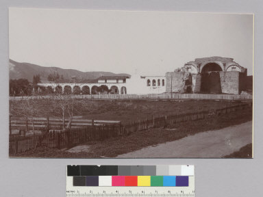 Back of unidentified mission. [photographic print]