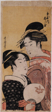 Okita of the Naniwaya tea stall and Shiratama, a courtesan of the Tama House