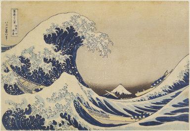 Fuji behind the waves off Kanagawa (The Great Wave), from Thirty-six Views of Mt. Fuji